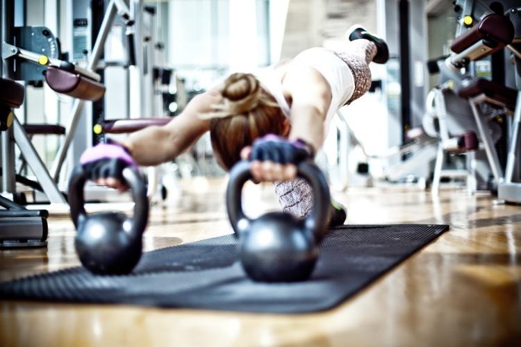 Yoga and kettlebell training